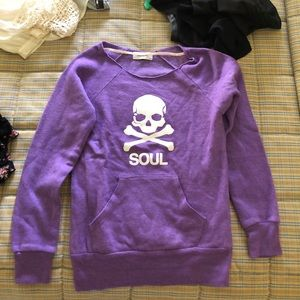 Purple soul cycle sweatshirt